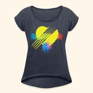 BOOM - YELLOW - Women's Roll Cuff T-Shirt