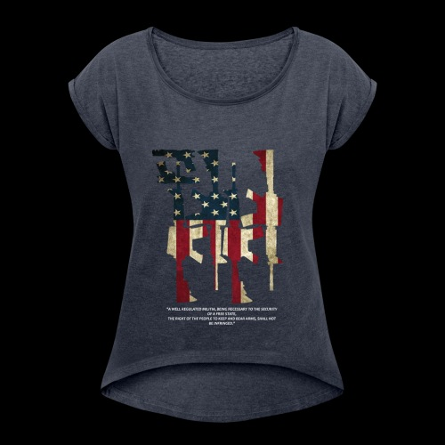 The 2nd Right is Best Right - Women's Roll Cuff T-Shirt