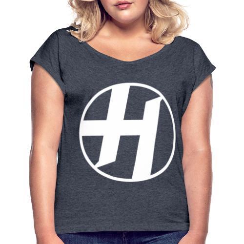 Heirs Logo White Big - Women's Roll Cuff T-Shirt