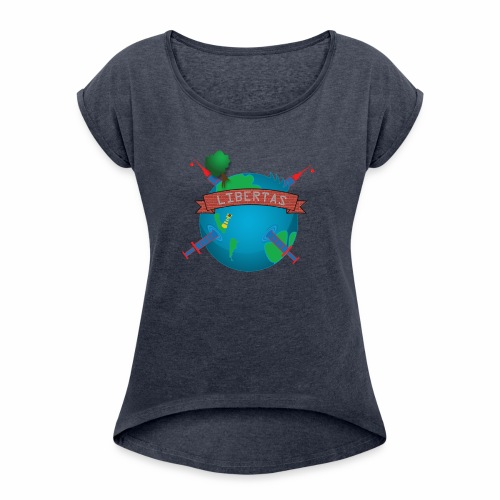 LIBERTAS - Women's Roll Cuff T-Shirt