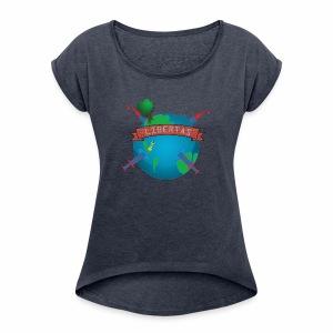 LIBERTAS - Women's Roll Cuff T-Shirt
