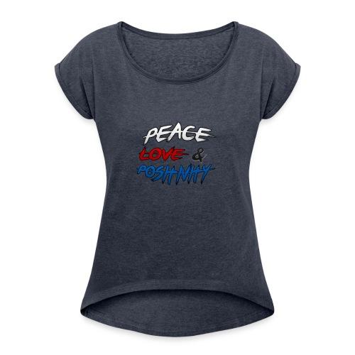 PL&P Logo - Women's Roll Cuff T-Shirt