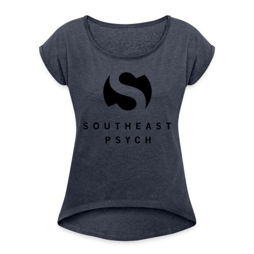 Southeast Psych Tall Mug Logo and Name - Women's Roll Cuff T-Shirt
