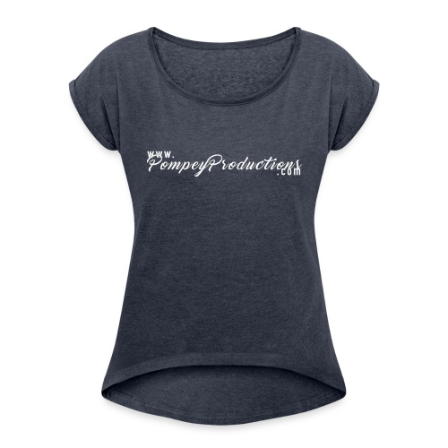 Pompey Productions The Site White - Women's Roll Cuff T-Shirt