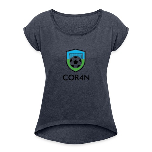 Football/Soccer Design - Women's Roll Cuff T-Shirt