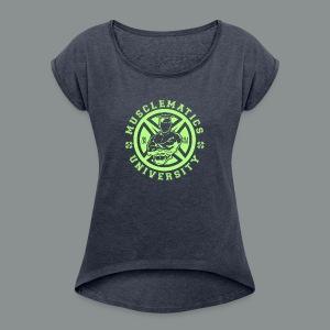 ALUMNI HIGH LIME - Women's Roll Cuff T-Shirt