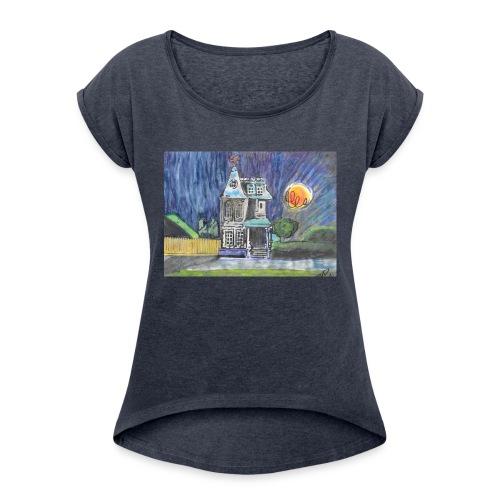 THE PINWHEEL HOUSE - Women's Roll Cuff T-Shirt