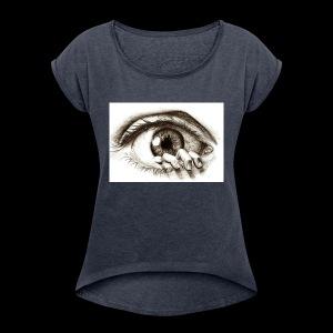eye breaker - Women's Roll Cuff T-Shirt