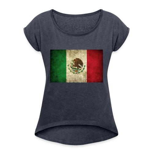 Mexico flag t-shirts etc - Women's Roll Cuff T-Shirt