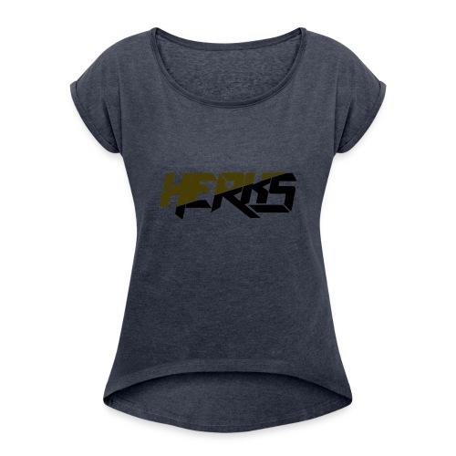 HerKs Military Text - Women's Roll Cuff T-Shirt