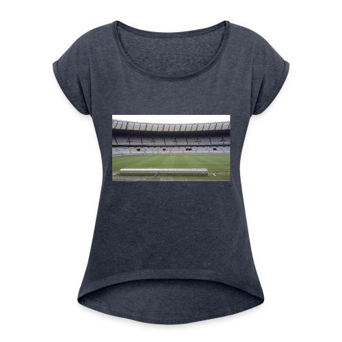casa do mair de minas mineirao mg cruzeiro - Women's Roll Cuff T-Shirt