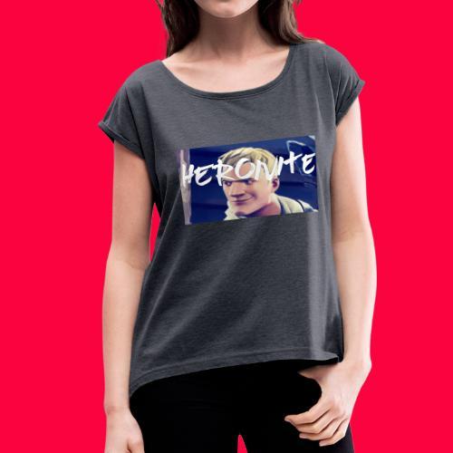 HeroNite Design - Women's Roll Cuff T-Shirt