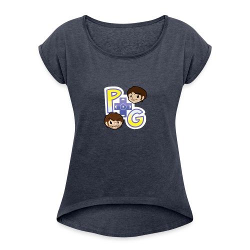 Power Trip Gaming #2 - Women's Roll Cuff T-Shirt