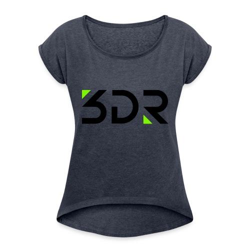 3dr logo - Women's Roll Cuff T-Shirt