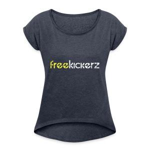 kicker Logo 1 - Women's Roll Cuff T-Shirt