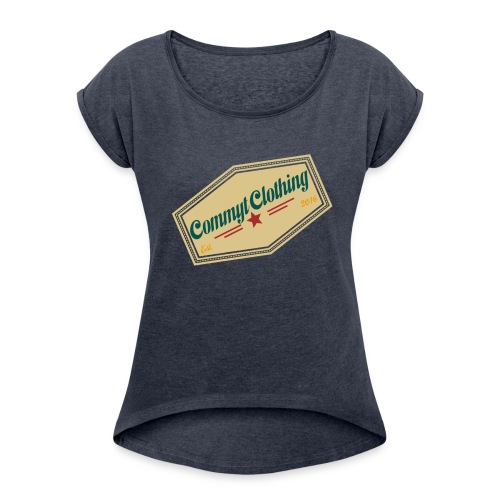 Commyt design 2 - Women's Roll Cuff T-Shirt