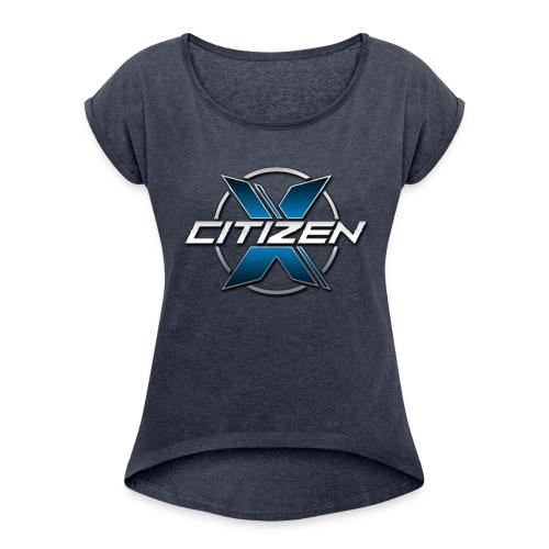 CitizenX Team Logo - Women's Roll Cuff T-Shirt