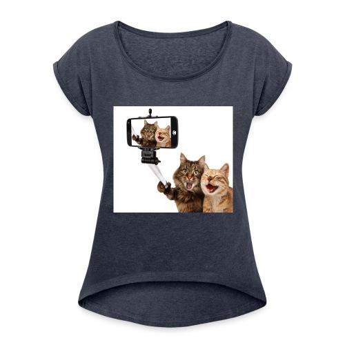 selfi-wallpaper-10928212 - Women's Roll Cuff T-Shirt