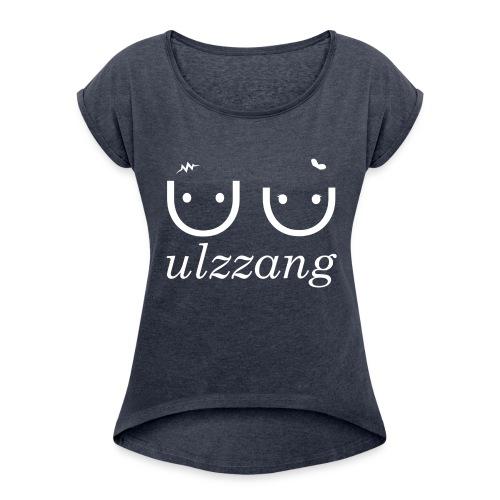 Ulzzang - Best Face - Women's Roll Cuff T-Shirt