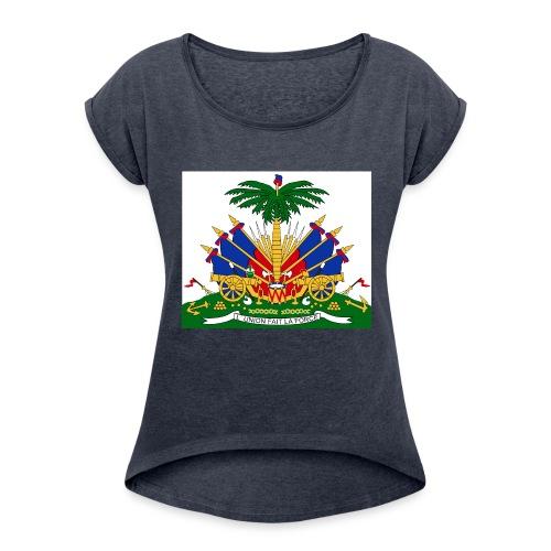 haitian 101 - Women's Roll Cuff T-Shirt