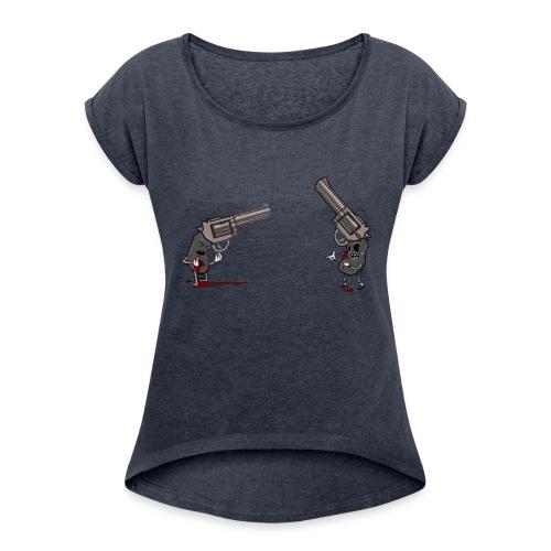 Guns - Women's Roll Cuff T-Shirt