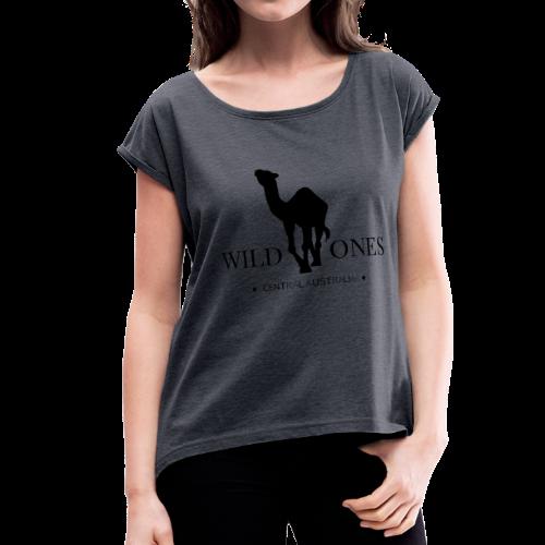 WILD ONES Camel Logo 2 - Women's Roll Cuff T-Shirt