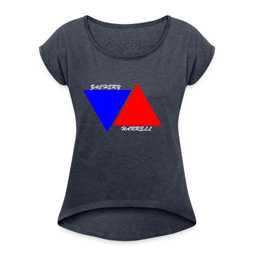 Officail 2017 Zachery Harrell logo - Women's Roll Cuff T-Shirt