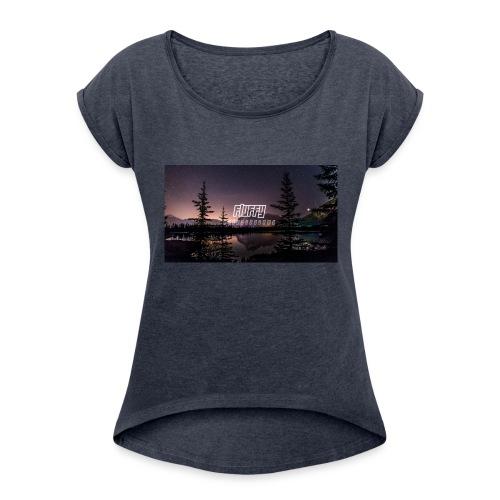 Fluffy's Designs - Women's Roll Cuff T-Shirt
