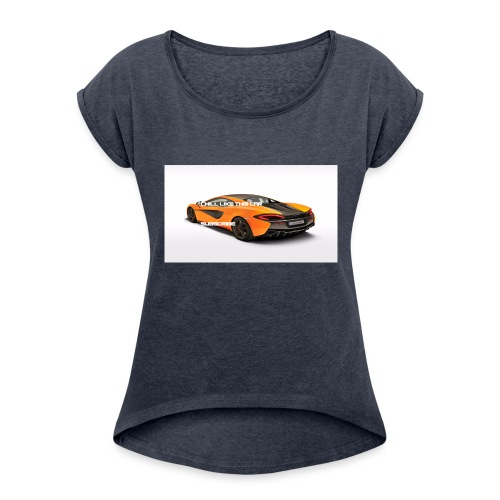 ChillBrosGaming Chill Like This Car - Women's Roll Cuff T-Shirt