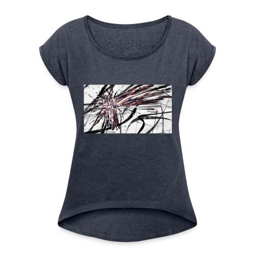 Original Abstract Samsung Galaxy S6 Rubber Case - Women's Roll Cuff T-Shirt