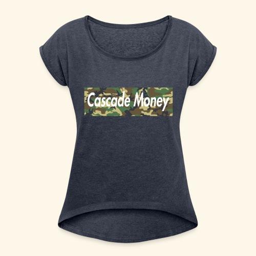 Cascade money camo - Women's Roll Cuff T-Shirt