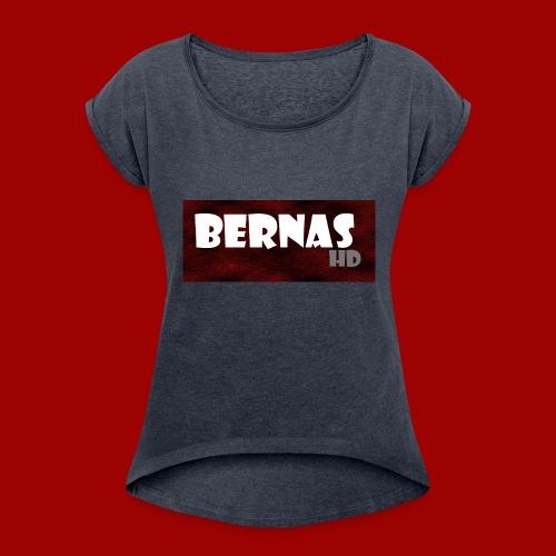 bernashd color 2 - Women's Roll Cuff T-Shirt