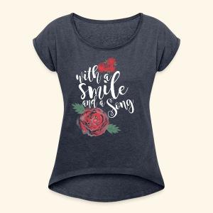 Snow White - Women's Roll Cuff T-Shirt