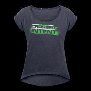 Splatter CFI Logo Trans - Women's Roll Cuff T-Shirt