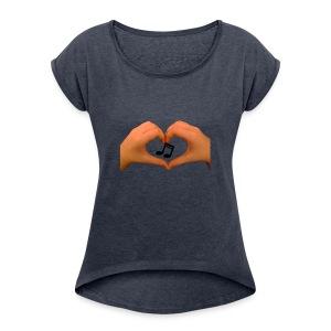 hands of music - Women's Roll Cuff T-Shirt