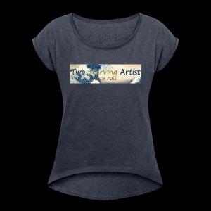 Kanagawa - Women's Roll Cuff T-Shirt