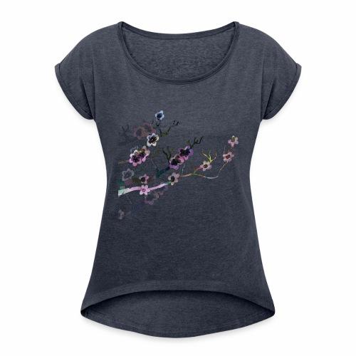 Sakura Blossoms - Women's Roll Cuff T-Shirt