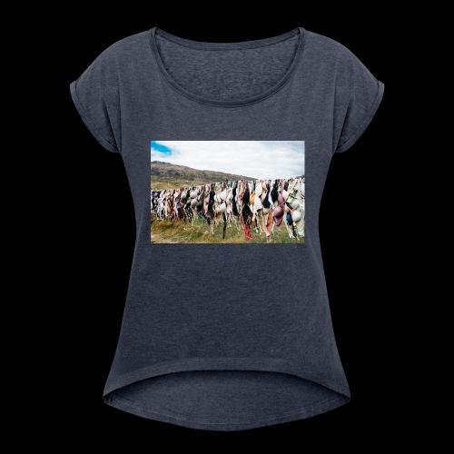 Bras Tee - Women's Roll Cuff T-Shirt