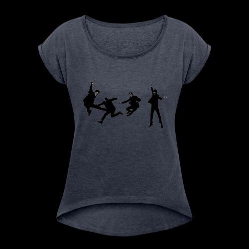 beatles jump - Women's Roll Cuff T-Shirt