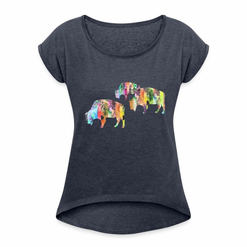 Bison - Women's Roll Cuff T-Shirt