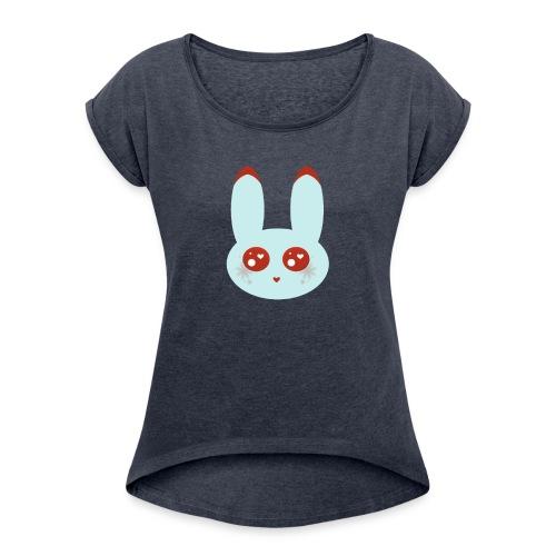 blue bunny - Women's Roll Cuff T-Shirt