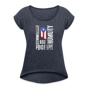 Puerto Rican Identity - Women's Roll Cuff T-Shirt