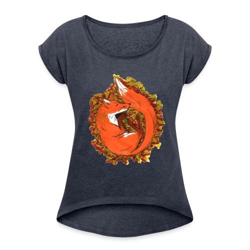 Sleepy fox - Women's Roll Cuff T-Shirt