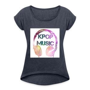 KPOP MUSIC - Women's Roll Cuff T-Shirt