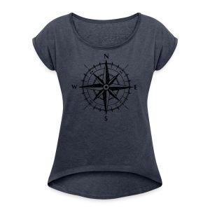 COMPASS - Women's Roll Cuff T-Shirt