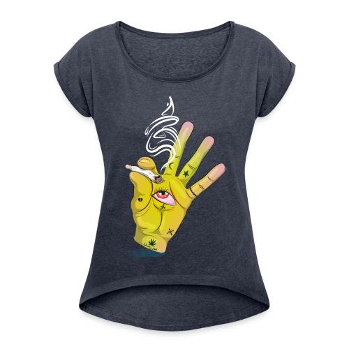 Khalwi High Khamsa - Women's Roll Cuff T-Shirt