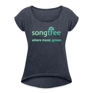 Songtree Logo - Women's Roll Cuff T-Shirt