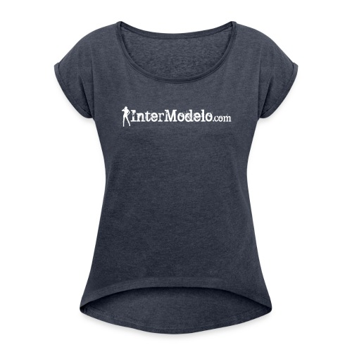 Intermodelo White - Women's Roll Cuff T-Shirt
