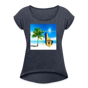 Barbados Good Morning - Women's Roll Cuff T-Shirt