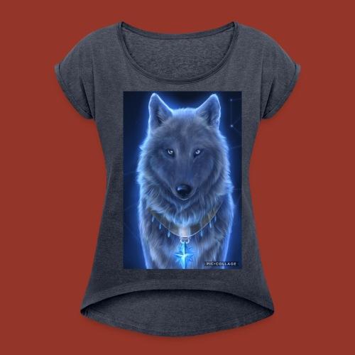 WolfyRaps4life - Women's Roll Cuff T-Shirt
